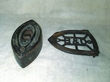 B&D (Bless and Drake) Antique Sad Iron and Trivet