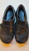 KEEN Kaci Full-Grain Womens Slip-on Black Leather Clogs Shoes 5440 Size 9.5M EUC