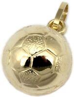 Anhänger Fußball Gold 333 WM Ball 8 Karat Gelbgold Unisex