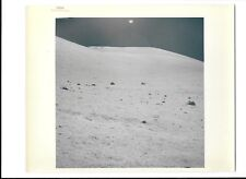 Original NASA Red Number Apollo 17 Lunar Surface Color Photo Station 7 Pad