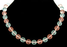 VTG ART DECO WMF GERMANY PASTEL PINK & BLUE MYRA GLASS BEAD NECKLACE