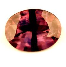Certified Natural Sapphire 1.53ct Reddish Pink Blue VS Oval Madagascar Gem