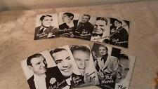 Lot of 10 Mutoscope postcards Music Corp of America