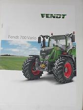 FENDT 700 VARIO Traktoren Prospekt 08/16 ( Fendt 100 )