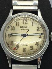 Vintage Gruen Veri-Thin Precision Military Style