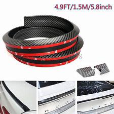 4.9 FT 3D Carbon Fiber Car Rear Wing Lip Spoiler Tail Trunk Roof Trim Decor Kit