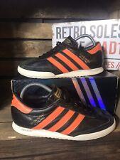 Adidas Originals Beckenbauer AR Trainers UK Size 7 Black Orange Leather  G4413