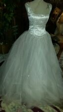NWT ♡ #1  WEDDING DRESS ♡ CINDERELLA STYLE ♡ BEAUTIFUL ♡ SIZE 10
