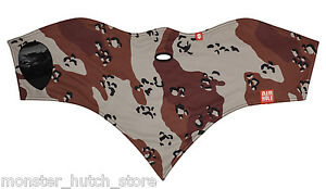 NEW WITH TAGS Airhole Unisex S1 2 LAYER FACEMASK DESERT CAMO HUNTING LIMITED