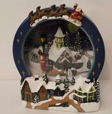 Natale Decorazione LED LITE MUSICALE A BATTERIA Villaggio scena di neve (powder