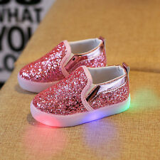 Moderno infantil Bebe Niña Cuero Ligeras zapatillas Suave Zapatos de cuna