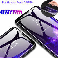 Mate 20 Pro 6D UV Liquid Full Tempered Glass Screen Protector For Huawei P30 Pro