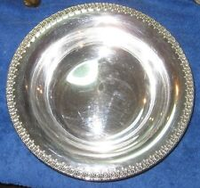"Vintage 10"" x 2"" Wilcox Silverplate Serving Bowl IS Company Rose Marie Pattern"