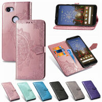 For Google Pixel 3A/3A XL Mandala Leather Flip Stand Card Wallet TPU Case Cover