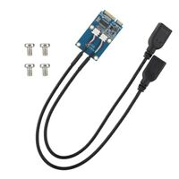 MINI PCI-E to 2x USB2.0 Converter Expansion Card Adapter For Laptops Motherboard