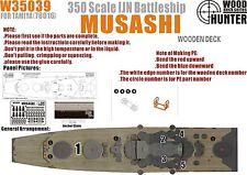 Hunter 1/350 W35039 Wood deck IJN Musashi for Tamiya 78016