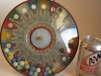 Vintage Marx Spin It Bingo Game 1950's Tin w 5  sets of Marbles