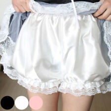 Women Lolita Lace Shorts Satin Bloomers Underwear Panties Princess Solid Color