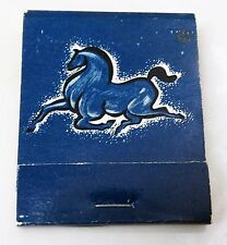 RARE OLD THE BLUE HORSE RESTAURANT TWIN CITIES MN MATCHBOOK -1355 UNIVERSITY AVE