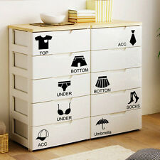 Shoes Clothes Wardrobe Cabinet Classification Stickers Vinyl Decorative Sticker