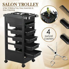 "32"" Beauty Salon Spa Styling Station Trolley Equipment Rolling Storage Tray Cart"