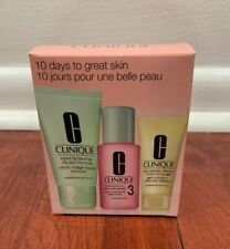 CLINIQUE 10 Days to Great Skin 3 Step Set for Oily Skin - New in a box