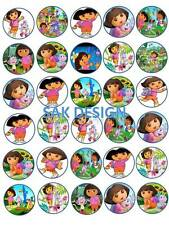 30 X Dora The Explorer Cup Cake Toppers On Edible Wafer/Rice Paper