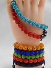 Crystal Shamballa Adjustable Costume Bracelets
