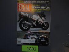 Cycle Guide Magazine atc350x r80 bmw Honda NS400R September 1985