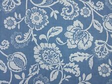 Clarke and Clarke Eliza Chambray Floral Design Curtain Upholstery Craft Fabric