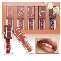 5Color Waterproof Matte Liquid Lipstick Set Nude Brown Chocolate Rose Lipsticks