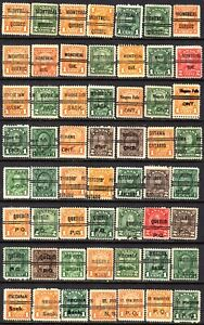 (T-1584) Canada Precancels - all KGV era - 56 different - by city/town name
