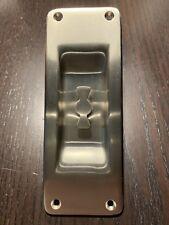 Rejuvenation Hardware New Old Stock Pocket Door Pull Plate - Brushed Nickel