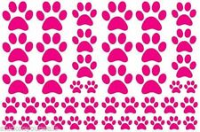 HOT PINK PAW PRINTS-2 sheets total 44 pieces VINYL WALL DECAL STICKER DOG CAT