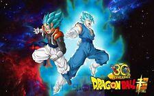 Poster A3 Dragon Ball Super Goku Vegeta Super Saiyan Blue God 01