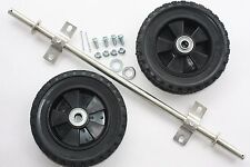 "New 8"" Wheels & Axle Kit ad wheels to generator, trash pump, dolly, projects."