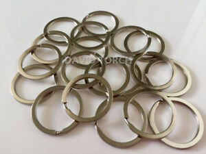 20 PCS Bulk Stainless Steel Key Holder Split Rings Keyring Keychain Keyfob 32mm