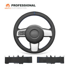 MEWANT Custom Synthetic Suede Car Steering Wheel Cover for Mazda 2 2008-2014