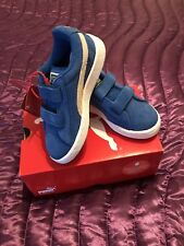 Kids Puma 2 Strap Blue Suede Snorkel Sneakers Trainers Size 11
