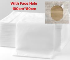 100/80pcs Disposable Massage bed sheet Beauty Table Cover Face Hole 190cm*80cm