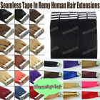 """16"""" 18"""" 20"""" 22""""Seamless Tape in Skin Weft Remy Human Hair Extensions 20/40Pcs 8A"""
