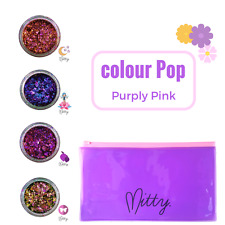 Nail Art DuoChrome Mirror Flakes Chameleon Unicorn Powder - Purply Pink by Mitty