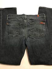 "7 For All Mankind ""Standard"" Dark Blue Denim Womens Jeans Size 10 25x26 EUC"