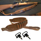 USA Leather Rifle Gun Sling Ammo Cartridge Shell Holder and Quick Release Swivel