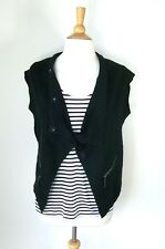 VERGE // Size S // Quirky Black Wool Blend Knit Vest Top