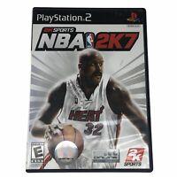 NBA 2K7 Shaq (Sony PlayStation 2, 2006) Complete w/Manual CIB