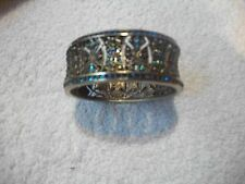 HEIDI DAUS Hinged Bangle Bracelet Multi Swarovski Crystals Absolutely BEAUTIFUL