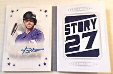 2016 National Treasures STARS Signatures Trevor Story Autograph Book AUTO 23/25!