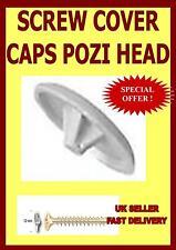 20  WHITE SCREW COVER CAPS POZI HEAD