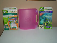 LEAPFROG TAG LEAP READER LOT PINK CASE ACTIVITY SET MONSTERS UNIVERSITY BOOK NEW